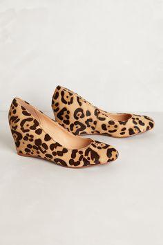 Lottie Leopard Wedges - CHIC!