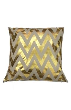 "kensie Metallic Chevron Pillow.  20"" square.NORDSTROM ANNIVERSARY SALE (7/16)."