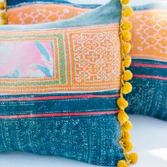 handcrafted textiles, vintage pillows, Portland textile, Portland craft