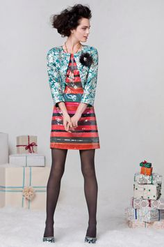 Could be a newyearseve-er. Love the tights. #GlintedSunsetShift #Sparkle #Anthropologie