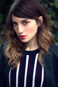 Hair cut, color & lips