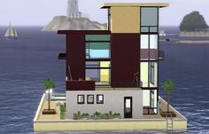 Modern houseboat by simsgal2227 • Sims 3 Downloads CC Caboodle