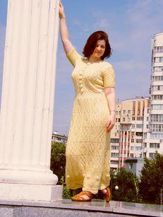 """Купить Хлопковое платье в пол """"Ванильное небо"""" - комбинированный, однотонный, платье в пол, платье вечернее"""