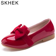 SKHEK Children shoes spring autumn Girls loafers shoes For kids Slip-on PU leather Black Red kids casual shoes Girls Dress Shoes, Baby Girl Shoes, Kid Shoes, Shoes For Kids Girls, Girls Loafers, Girls Sneakers, Fashion Shoes, Kids Fashion, Fashion Tights