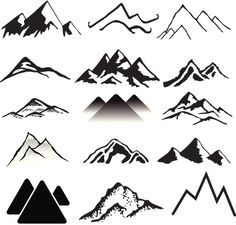 simple mountain painting - Google Search