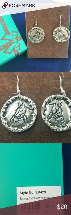Sterling Silver Horsehead Earrings Necklace by Shabby Soul, Western style designer offers the best Sterling silver jewelry. Shabby Soul Jewelry Earrings