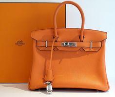 HERMÈS MEDIUM SATCHEL - The Birkin bag you've always wanted in a lovely orange leather.