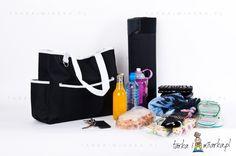 Torba plażowa/na zakupy czarna, Sagaform