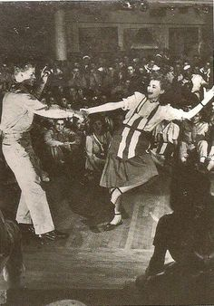 "USO dance, 1943 (New York)....Reminds me of the film, ""They Shoot Horses Don't They""."