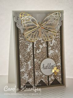 Stampin' Up! Something Lacy, Butterflies thinlits dies, vlinderstans, Six-Sided sampler