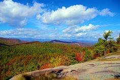 Cedar Rock hike in DuPont State Forest in the North Carolina mountains near Asheville
