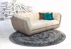 white comfy couch