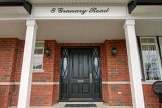 Gorgeous entrance King City, Front Entrances, New Homes For Sale, Estate Homes, Ontario, Home And Family, Outdoor Decor