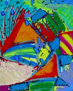 "XERADO: ""Party at the Regatta"" - Media: Acrylic on canvas - Size: 24"" w x 30"" h - 61 cm x 76.2 cm"