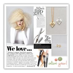 """""""Olive Yew.13"""" by samirhabul ❤ liked on Polyvore featuring Chantecaille, Zara, women's clothing, women's fashion, women, female, woman, misses, juniors and handmadejewelry"""