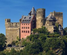 Auf Schonburg Castle on the Rhine at Oberwesel in Germany.  Had lunch there at Burghotel und Restaurant.  :)