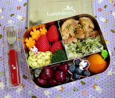 Chicken and Rice Lunchbots Trio Bento by sherimiya ♥, via Flickr