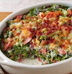 Creamy Bacon Broccoli Bake
