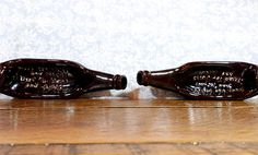 """1960s Beer bottle Ash Tray- """"Made from Malt and Mashes, used for butts and ashes"""""""