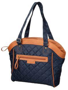 Pour vos virées en ville, voici la sacoche bandoulière Cordo Bijoux Shopper bleu marine.