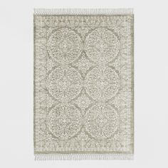Tan Patterned Woven Area Rug - Threshold™ - image 1 of 3
