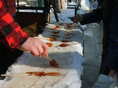 making maple syrup candy in the snow, Something you've gotta do on a #CDNGetaway Canadian Getaway