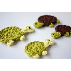 Free Crochet Animal Applique Patterns | Free Crochet Pattern Turtle Applique From The Animals Pictures