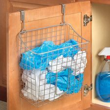 Over-the-Cabinet Bag Storage   #HouseholdOrganization #OrganizationIdeas