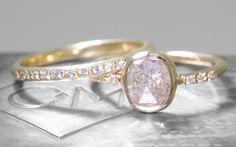 1.33 Carat Light Gray Diamond Ring in Yellow Gold