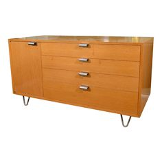 George Nelson primavera chest with hairpin legs and J pulls