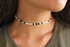 choker with clasp and extender Beaded Anklets, Beaded Choker, Beaded Jewelry, Beaded Bracelets, Surf Necklace, Diy Necklace, Diamond Choker Necklace, Ankle Bracelets, At Least