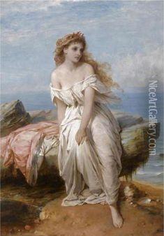 thomas francis dicksee artist | ... , Sir Thomas Francis Dicksee Oil Paintings - NiceArtGallery.com