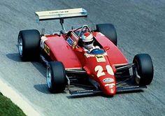 Mario Andretti en la bellísima Ferrari 126C2 para el Gran Premio de Italia en Monza 1982 ... su última pole en Fórmula Uno