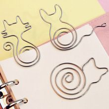 20 pçs/lote Criativo Bonito Clipes de Papel Marcador Memo Clip para Material Escolar Escritório Papelaria Prêmio Presente da Moda…