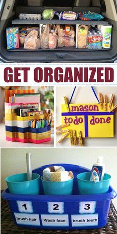 Ideas to get organized
