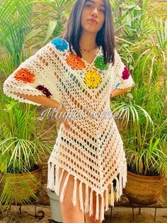ergahandmade: Crochet Cardigan + Video Tutorials You are in the right place about knitting aesthetic Here we offer you the most beautiful pictures about the. Crochet Poncho, Crochet Cardigan, Crochet Stitches, Knit Crochet, Diy Crafts Knitting, Diy Crafts Crochet, Crochet Projects, Crochet Designs, Crochet Patterns