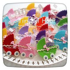 ♥ Tiryaki Hobi ♥: Keçe bebek şekeri / doğumgünü magneti - puset (LOYA)
