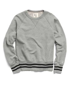 f94c327a9b9c Mr. Porter Collaboration Crewneck Sweatshirt in Grey Mix by Todd Snyder  Sweater Hoodie