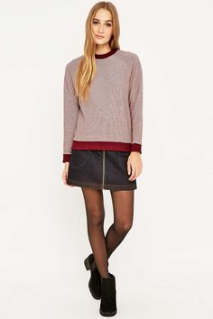 Urban Outfitters Striped Ribbed Sweatshirt
