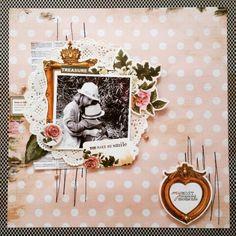 Kaisercraft : Treasured Moments collection : you make me smile layout by Amanda Baldwin