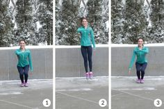 Side to side hops - balance and agility workout