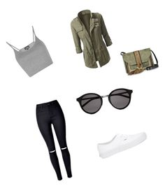 """Untitled #23"" by jessica12conceicao on Polyvore featuring WithChic, Vans, Topshop, L'Autre Chose and Yves Saint Laurent"
