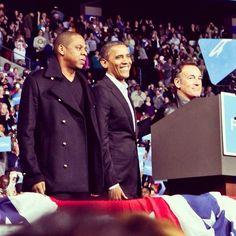 Jay Z & Bruce Springsteen with Barack Obama.