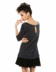 Bershka Ukraine - Bershka back bow imitation leather detail jumper
