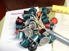 Instrument amb càpsules de cafè