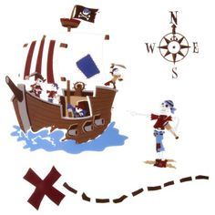 Wall Decals for a Pirate Room!