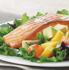 Salmon, Avocado and Mango Salad should just be called the Super Salad. It's loaded with nutrients which we love.
