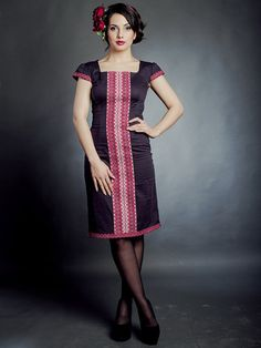 Fashion embroidered dress. Ukrainian Women's dress