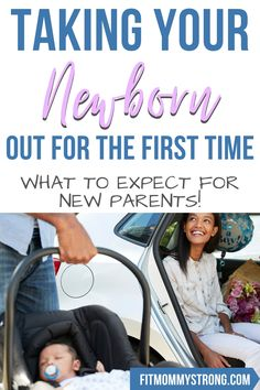 Stressed about taking your little newborn out into the big public world for the first time? Learn how to have a successful outing with baby!  #newbornbaby #newborntips