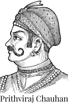 Prithviraj Chauhan - One of the greatest Rajput rulers Prithviraj Chauhan, King Of India, Independence Day Drawing, Rajasthani Painting, King Drawing, Warriors Wallpaper, Beautiful Landscape Wallpaper, Warrior King, Art Village
